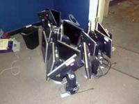 17 inch flat screen monitors $20.00 ,Keyboards $5.00