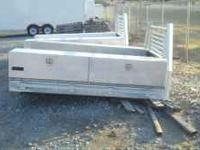 "Aluminum flatebed for single wheel truck 60"" cab to"