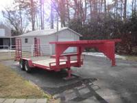 Trailer is 16ft. long with a 7x7ft. deck on gooseneck.