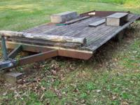 Flatbed Trailer with loading ramp 14' Long 7' Wide 4'