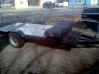 "Flat Bed Trailer w/Toolbox - 8' x 57"" x 22"" - (can be"