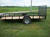 We sell all kinds of flatbed trailers that are made