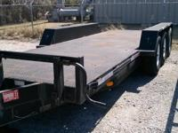 We are retiring a flatbed trailer from our fleet.