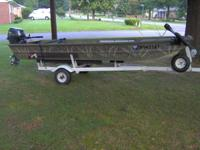 Selling a nice Alumacraft 14 x 36 Flatbottom boat with