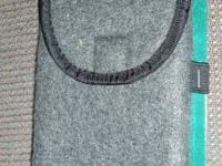 SOFT FLEECE EYE GLASS CASE with an attached strap that