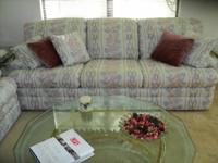 Selling a Flexsteel sofabed with matching loveseat.