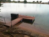 I have 3 floating docks that I made use of to tie up my
