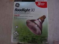 I have #6 total 90 watts halogen flood light bulbs. 20