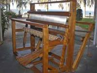 Nilus Leclerc, 4 harness jack type floor loom. It has a