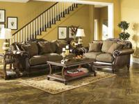 Ashley Sofa and Loveseat - Flowing with the rich beauty