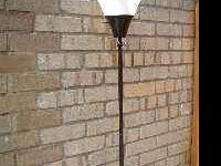 FLOOR LAMP WHITE SHADE - 71'' TALL - 3 WAY SWITCH ON