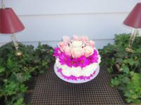 My Floral cake's appearance sufficient to consume! ...