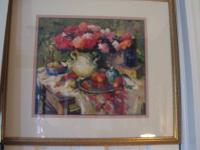 Beautiful Floral Impressionist Framed Print. Beautiful,