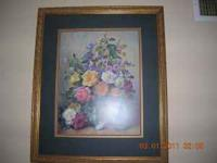 Floral Painting signed by artist - $20 (W. Pensacola)