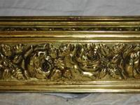 For Sale: Floral decorated Brass planter. I think it's