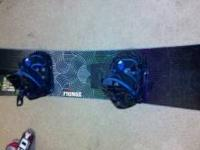Flow venus snowboard with flow bindings rides great ,