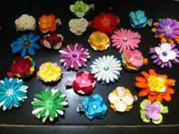 Flower hair clips can be attached to headbands or wear