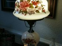 GONE WITH THE WIND LAMPS WE HAVE TWO FLOWER LAMPS