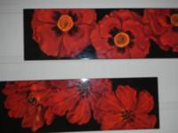 Beautiful red flower pictures $40 for both and a very