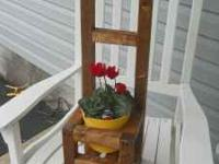 Handmade & stained Flower Pot Chairs. If interested