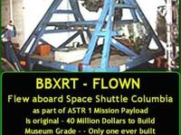 BBXRT for sale. Flew aboard ill fated space shuttle