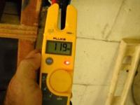 For sale is a Fluke T5-600 meter. It reads AC and DC