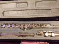 Accent Silver Flute in great condition, was used for
