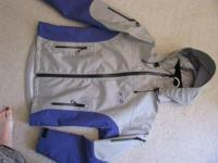 Rising Fly Fishing Jacket Sz. M Blue/grey 2 pockets on