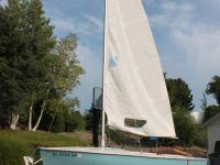 1973 Flying Scott sailboat.  Blue and white, good