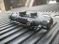 FM 3-9x26mm tactical scope with mount, illuminated blue