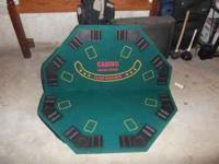 Fold out Poker Table for Sale great condition.. txt Dan
