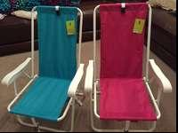 Two fold up back pack camping chairs. Great for camping