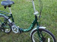 "Adult 20"" Folding Bicycle Schwinn ""Loop"" 7 Speed Nearly"