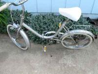For sale is a folding bicycle in good condition with