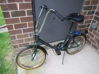 "Really unusual, 5-speed Northwoods 20"" folding bicycle."