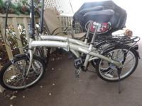 """Adventurer folding bikes, folds to 33"""" x 14 1/2 """" x 26."""