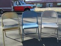 10 FOLDING CHAIRS AVAILABLE  SOME RETRO AND SOME