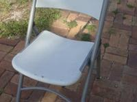 Nice sturdy folding chairMetal frame and plastic molded
