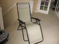 Folding lounger $25 New condition--used very little