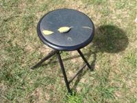 I have steel folding stool with padded seat, the seat