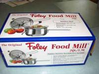 Stainless Steel Food Mill 2QT Great for canning