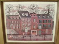 "Folk art print ""City Street"" by Charles Wysocki."