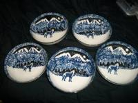 Tienshan Wolf Cereal Bowl Folk Craft Excellent
