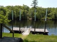 Private landing and boat Launch/dock for direct access