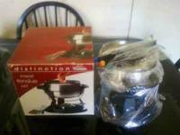 I am selling a new meat fondue set, This can also be