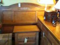 Queen size bed with head and footboard Large dresser