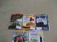 Food and Wine Magazine-- year 2000 issues $5.00