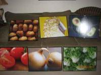 I am selling 6 art photo prints of food that we had in