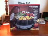 Magic Chef Food Dehydrator with 5 stackable trays. New