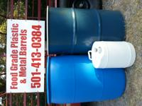 Food Grade Plastic and Metal Barrels for sale. These 55